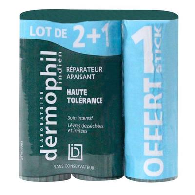 STICK HAUTE TOLÉRANCE RÉPARATEUR APAISANT  - DERMOPHIL INDIEN 2 + 1 stick offert