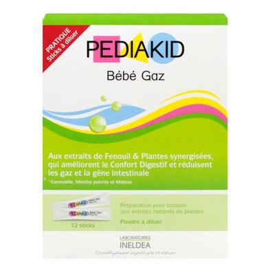 Pediakid bébé gaz 12 sticks Poudre a diluer