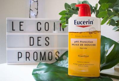 Eucerin, pH5 Protection, huile de douche peaux sèches 1L