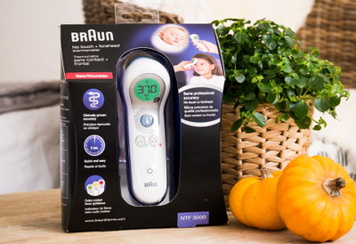 Braun, Thermomètre sans contact et frontal NTF3000