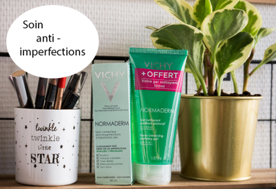 Vichy, Normaderm soin correcteur anti-imperfections 50ml + gel nettoyant purifiant profond 100ml offert