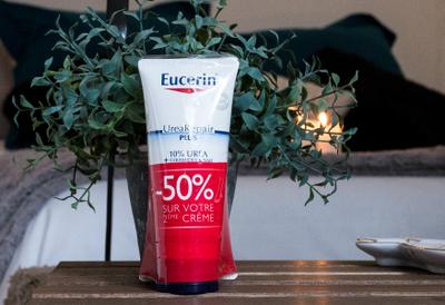 Eucerin, crème pieds réparatrice pieds secs et rugeux 2x100 ml