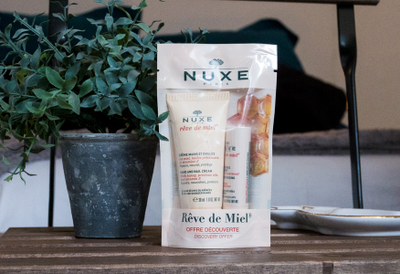 Nuxe, Rêve de miel crème mains et ongles 30 ml + Stick lèvres hydratant