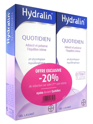 Hydralin Quotidien Lot de 2 x 200 ml
