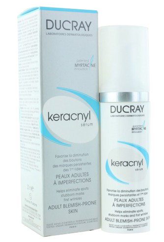 Ducray, Keracnyl sérum, peaux adultes à imperfections 30ml