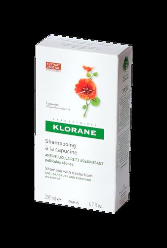 KLORANE SHAMPOOING ANTI PELLICULAIRE CAPUCINE 200 ML