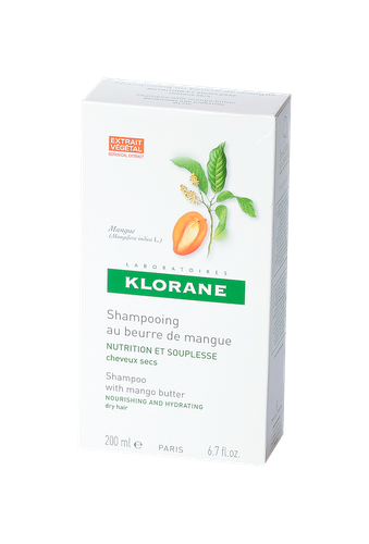 KLORANE SHAMPOOING NUTRITION BEURRE MANGUE FLACON 200 ML