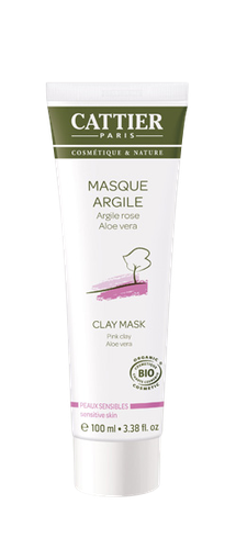 CATTIER Masque à l'argile rose et à l'aloe vera tube 100ml