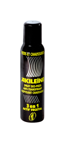 AKILEINE SPRAY DEO PIEDS ET CHAUSSURES ANTI TRANSPIRANT ASEPTISANT