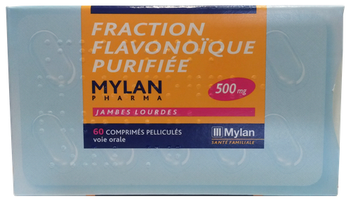 FRACTION FLAVONOIQUE PURIFIÉE 500MG COMPRIMÉS 60