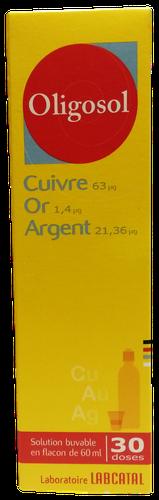 OLIGOSOL CU-OR-AG FL 60ML