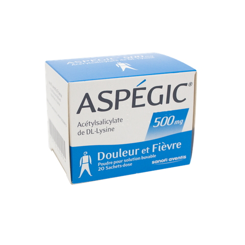 ASPEGIC 500MG 20 SACHETS