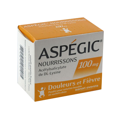 ASPEGIC 100MG NOURRISSON 20 SACHETS
