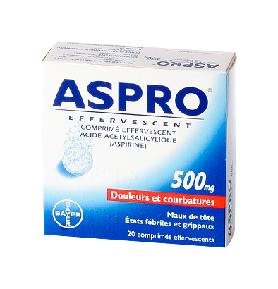 ASPRO 500MG 20 COMPRIMES EFFERVESCENTS