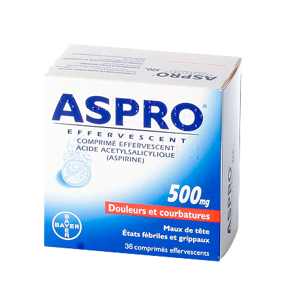 ASPRO 500MG 36 COMPRIMéS EFFERVESCENTS