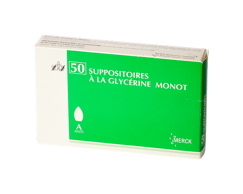 50 SUPPOSITOIRES A LA GLYCERINE  ADULTE MONOT