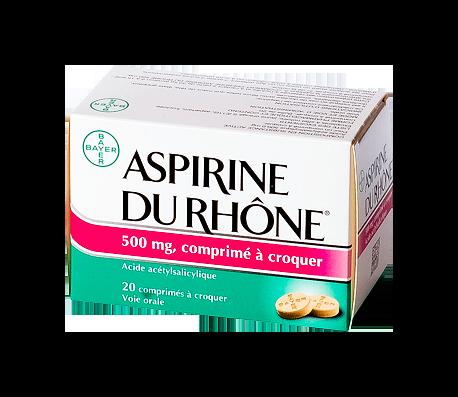 ASPIRINE RHONE 500MG 20 CPR A CROQUER