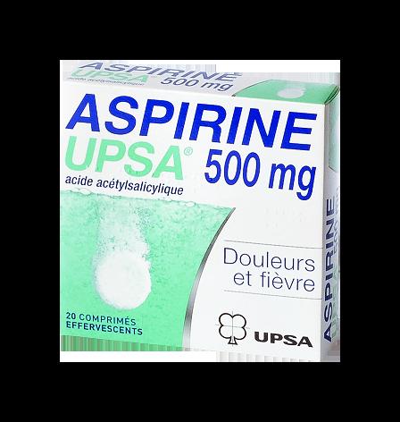 ASPIRINE 500MG UPSA 20COMPRIMÉS EFFERVESCENTS