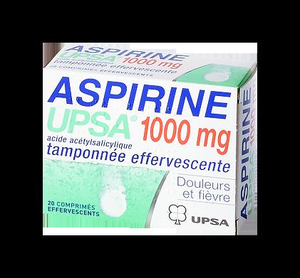 ASPIRINE 1000MG UPSA 20COMPRIMÉS EFFERVESCENTS