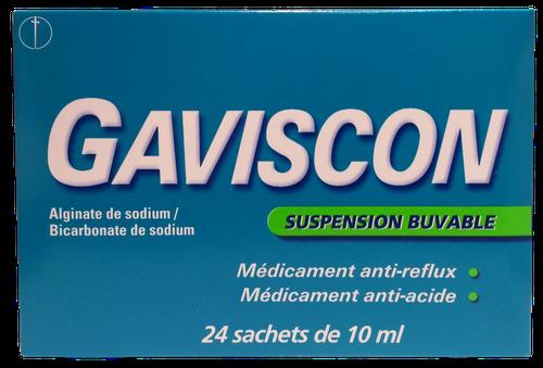 GAVISCONELL MENTHE SANS SUCRE SACHET 10ML X 24