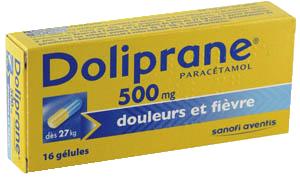 DOLIPRANE 500MG GELULE 16