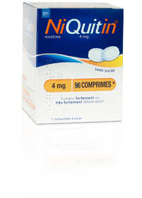 NIQUITIN 4MG COMPRIMÉ À SUCER SANS SUCRE 96