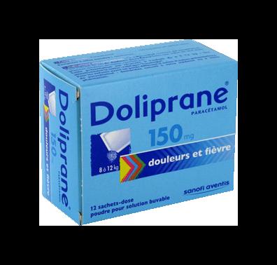 DOLIPRANE 150MG 12SACHETS