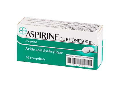 ASPIRINE DU RHONE 500MG 50COMPRIMÉS