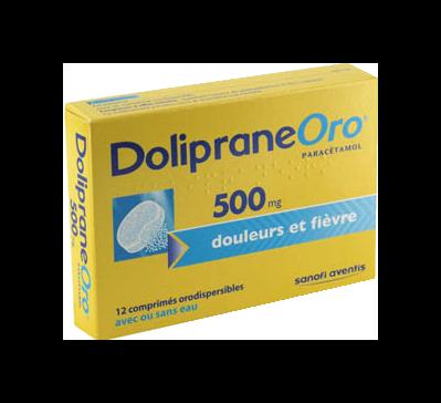 DOLIPRANEORO 500MG CPR OROD 12