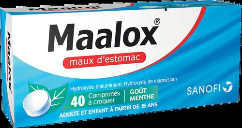 MAALOX MAUX D'ESTOMAC MENTHE COMPRIMÉ 40
