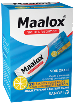 MAALOX MAUX D'ESTOMAC CITRON SACHET 20