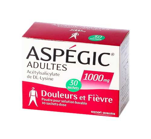 ASPEGIC 1 000MG ADULTE SACHET 30