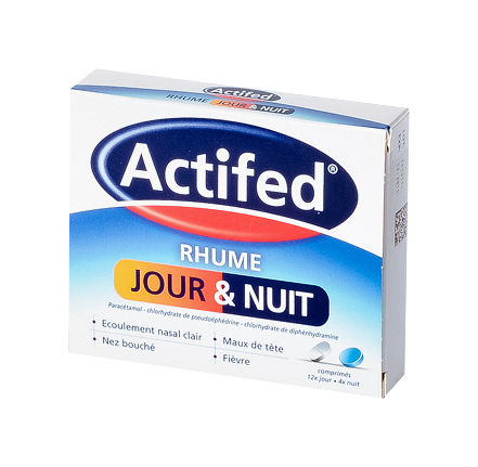 ACTIFED RHUME JOUR ET NUIT CPR 16