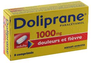 1 - DOLIPRANE 1 000MG boite de 8 comprimés à avaler