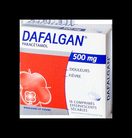 DAFALGAN 500MG 16COMPRIMÉS EFFERVESCENTS SECABLES