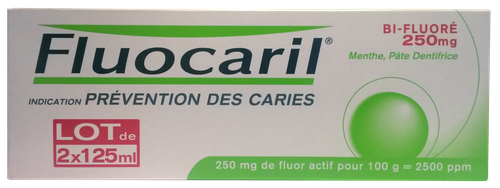 FLUOCARIL 250 BIFLUORE DENT MENTHE125ML LOT2