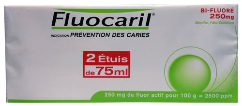 FLUOCARIL 250 BIFLUORE DENT MENTHE 75ML LOT2