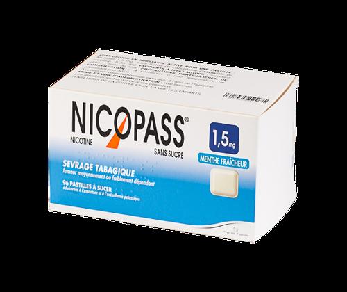 NICOPASS 1,5MG 96PASTILLES SANS SUCRE MENTHE