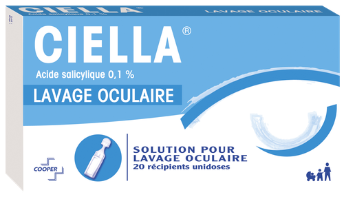 CIELLA 0,1% SOLUTION LAVAGE OPHTHALMIQUE DOSE 20