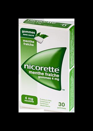 NICORETTE 4MG GOM MENT FRAIC S/S30