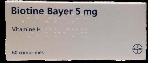 BIOTINE BAYER COMPRIME 5MG BOITE DE 60