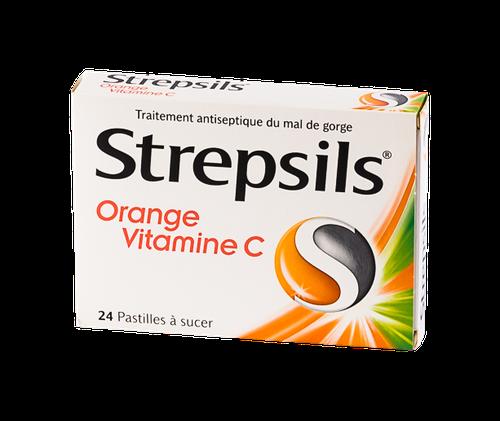 STREPSILS ORANGE VIT C PAST 24