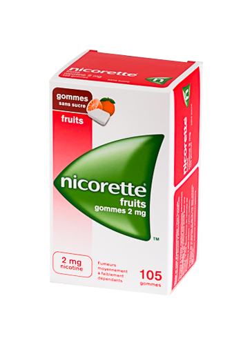 NICORETTE 2MG 105 GOMMES FRUITS