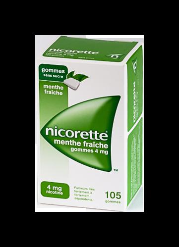 NICORETTE 4MG 105 GOMMES SANS SUCRE