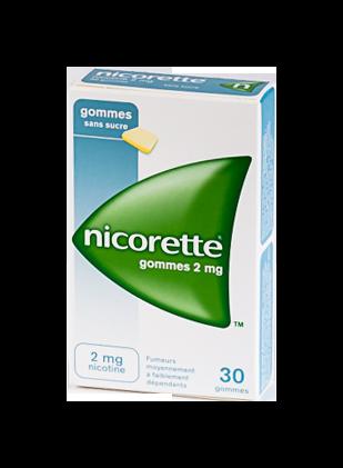 NICORETTE 2MG 30 GOMMES SANS SUCRE