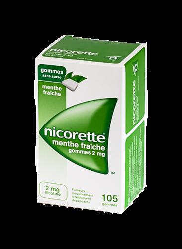 NICORETTE 2MG 105 GOMMES MENTHE FRAICHE