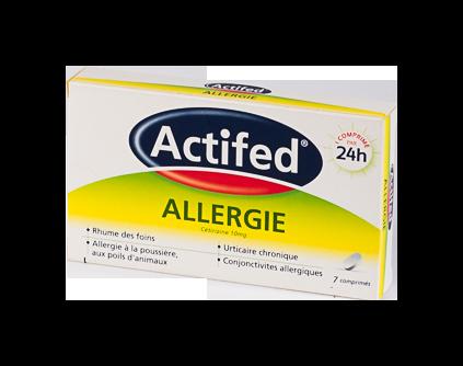 ACTIFED ALLERGIE 10MG CPR SEC 7