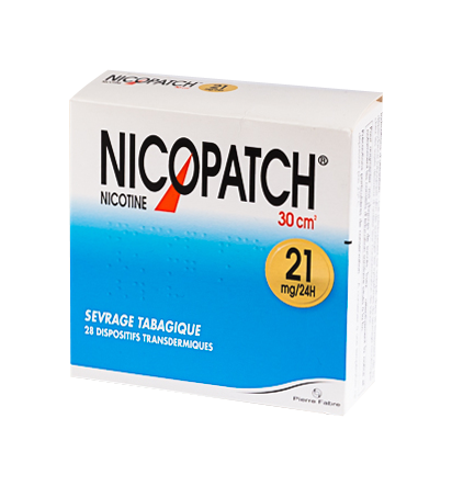 NICOPATCH 21MG / 24H DISPOSITIF TRANSDERMIQUE  BOITE DE 28