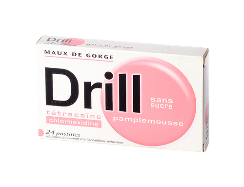 DRILL 24 PASTILLES SS SUCRE PAMPLEMOUSSE