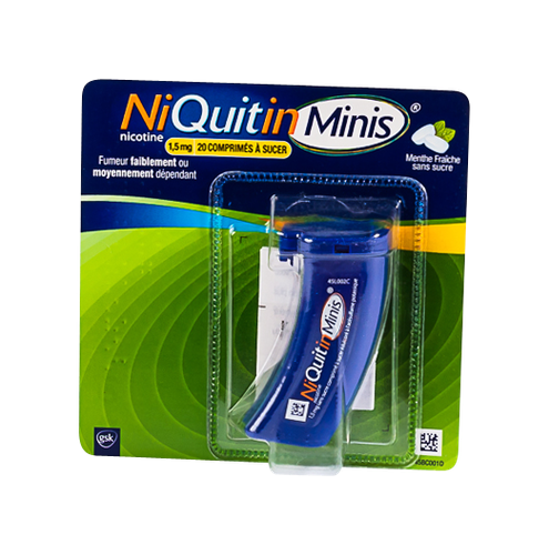 NIQUITINMINIS 1,5MG CPR SUC S/S 20